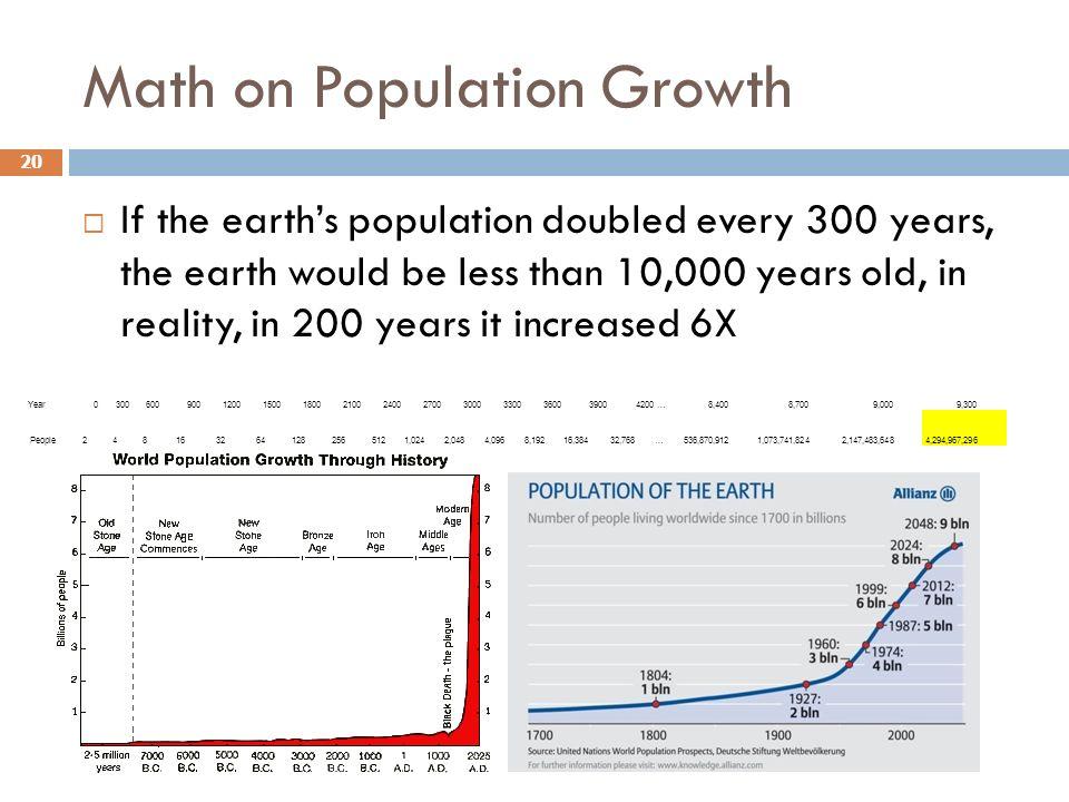 Math on Population Growth
