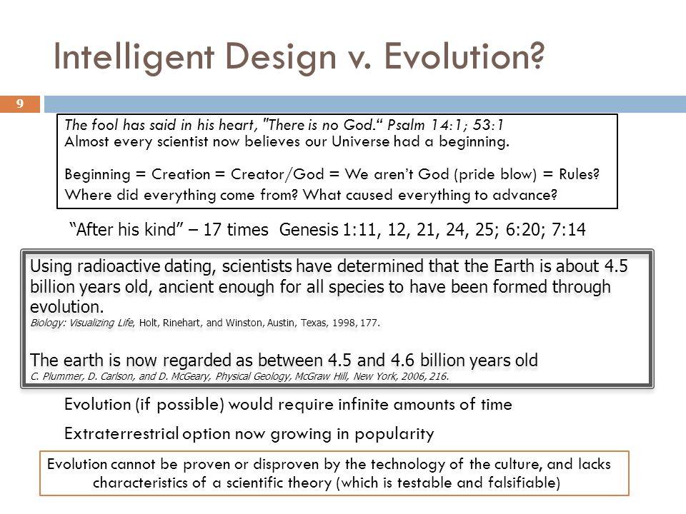 Intelligent Design v. Evolution