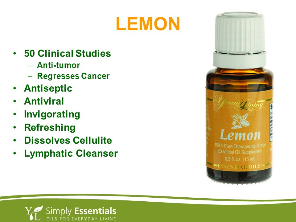 LEMON 50 Clinical Studies Antiseptic Antiviral Invigorating Refreshing
