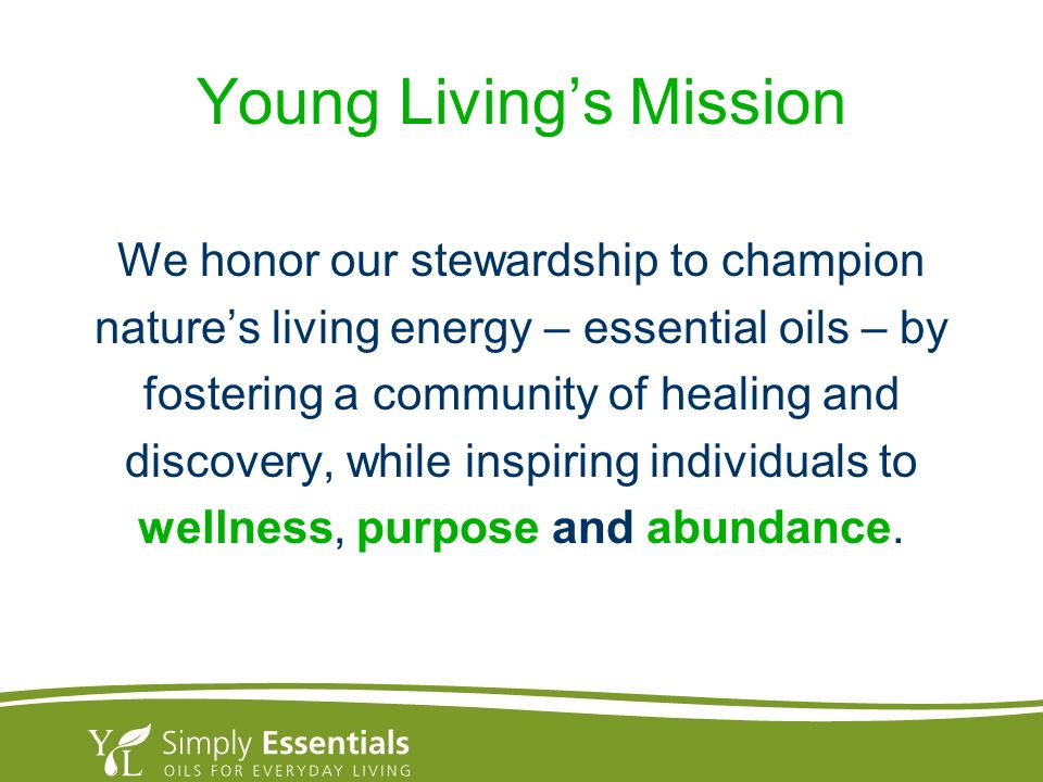 Young Living's Mission