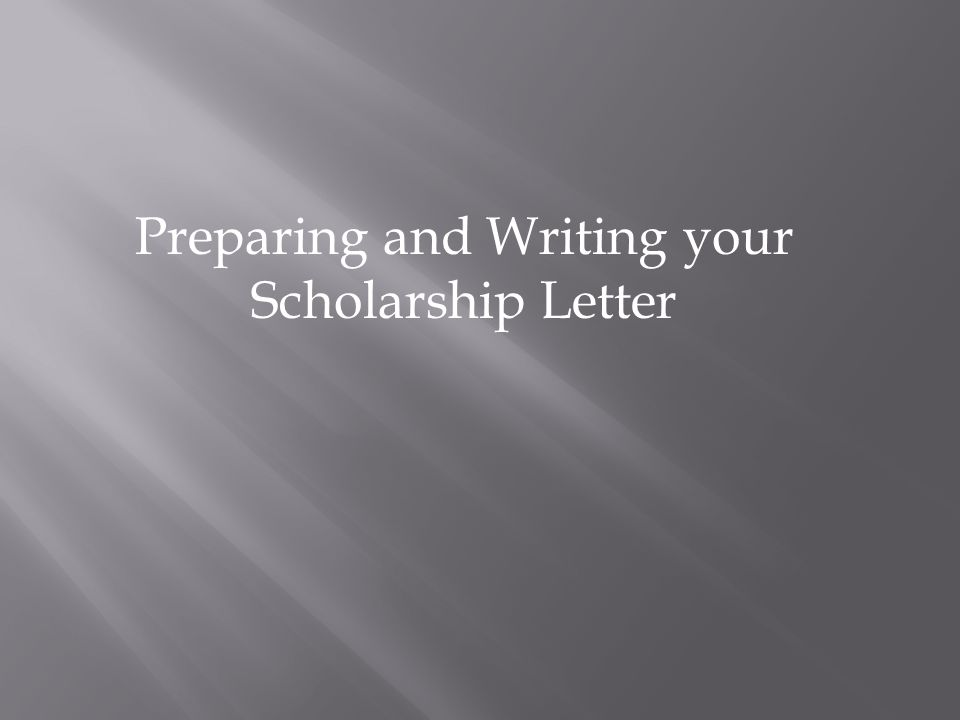 Preparing and Writing your