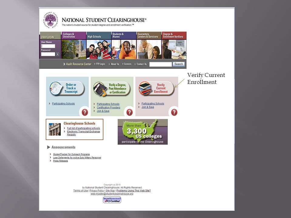 Verify Current Enrollment