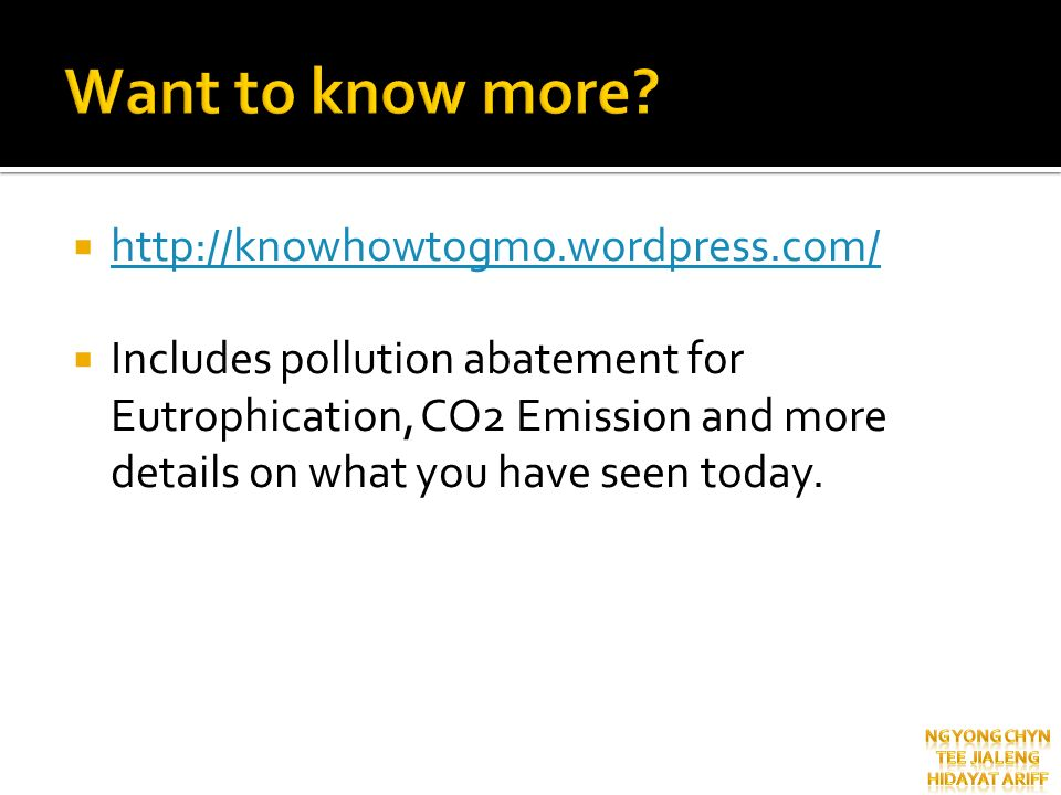 Want to know more http://knowhowtogmo.wordpress.com/