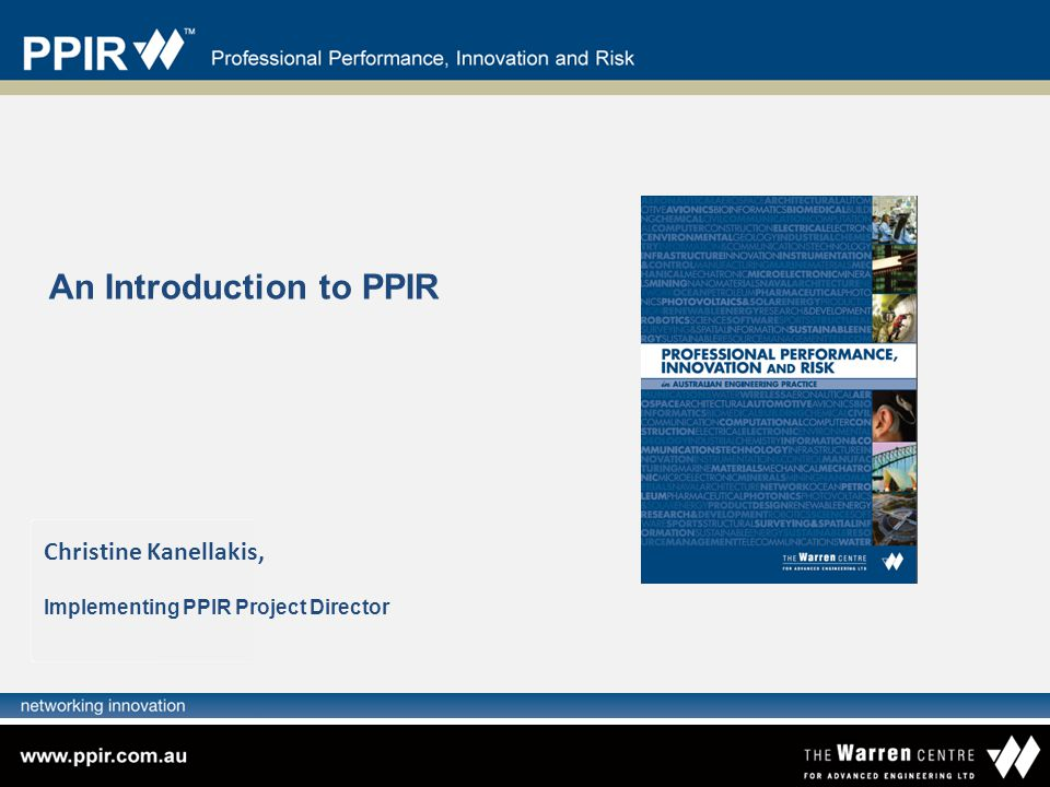 An Introduction to PPIR