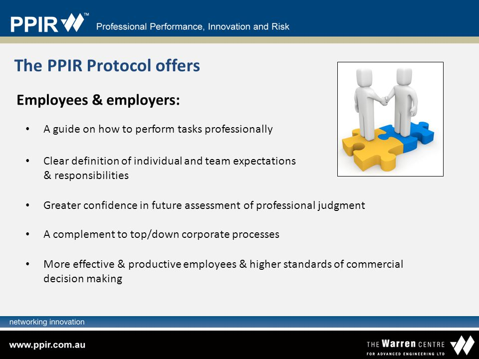 The PPIR Protocol offers