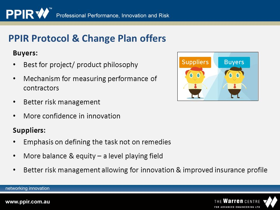 PPIR Protocol & Change Plan offers