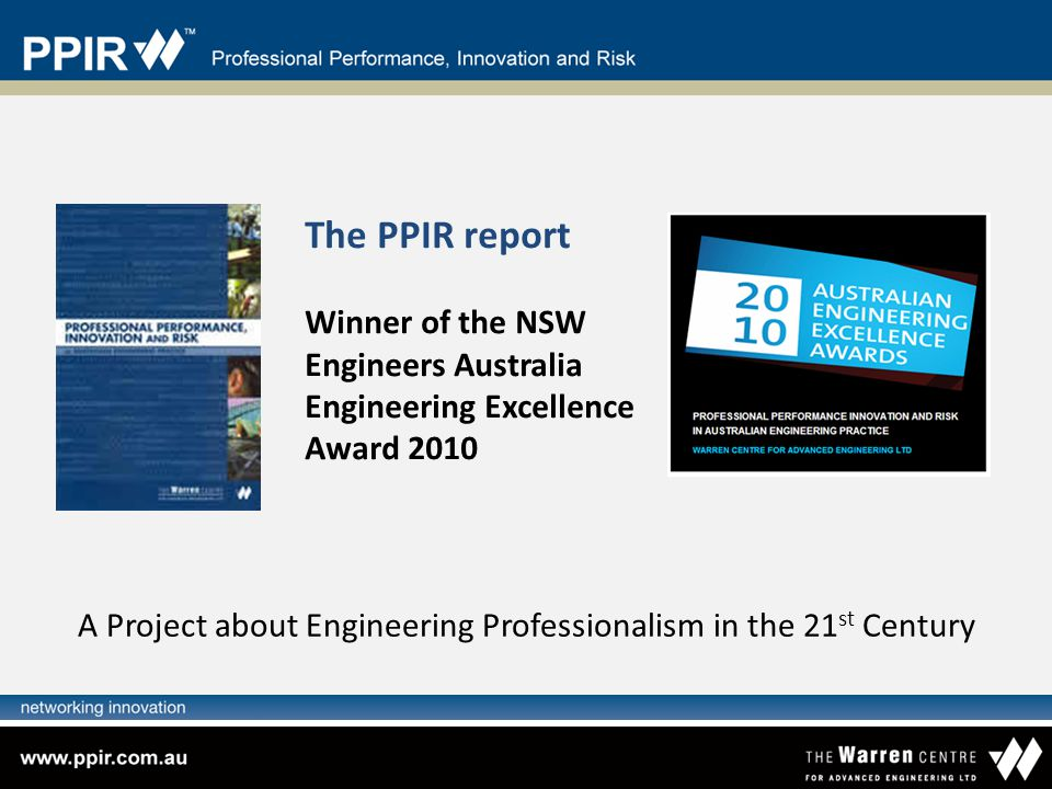 A Project about Engineering Professionalism in the 21st Century