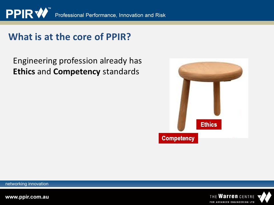 What is at the core of PPIR
