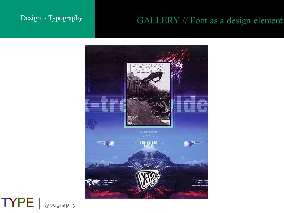 GALLERY // Font as a design element