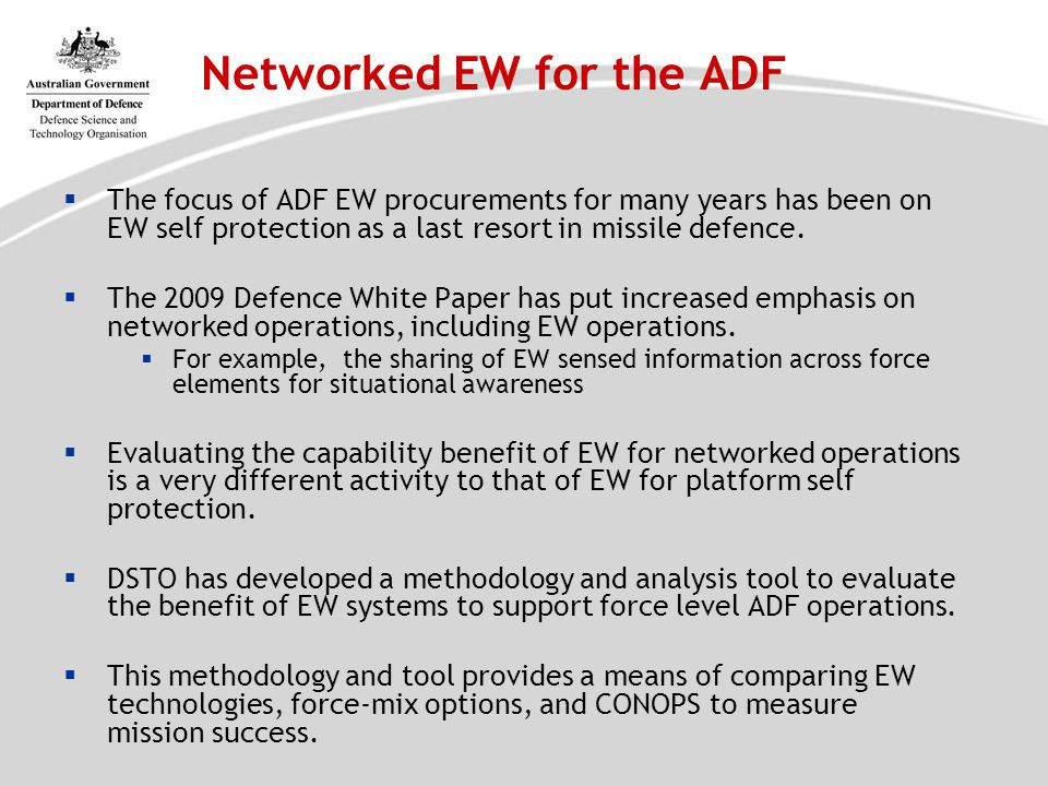 Networked EW for the ADF