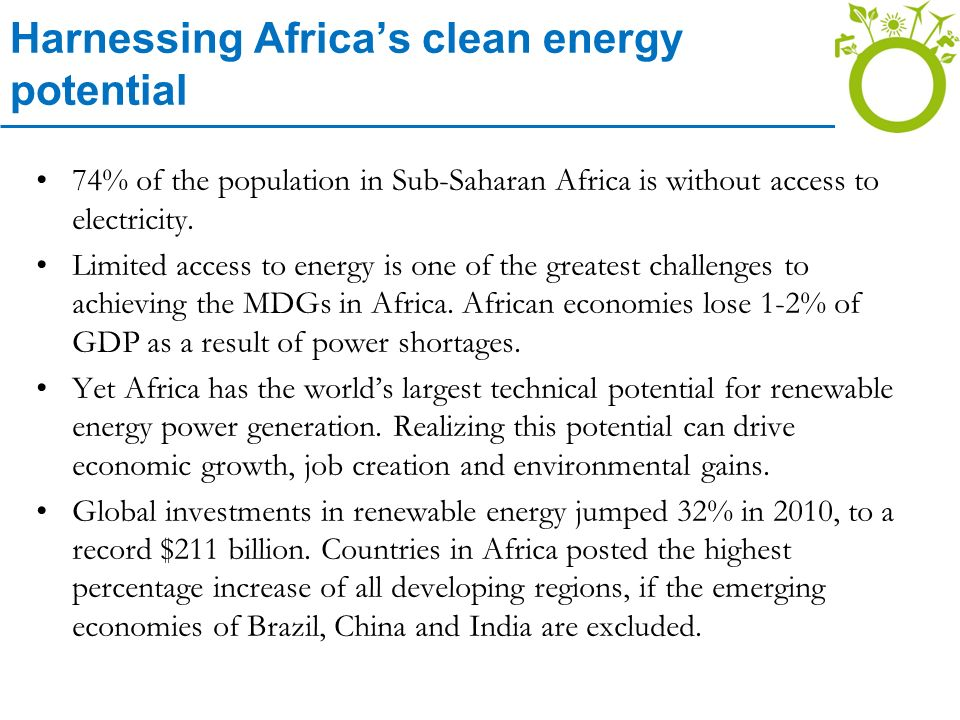 Harnessing Africa's clean energy potential