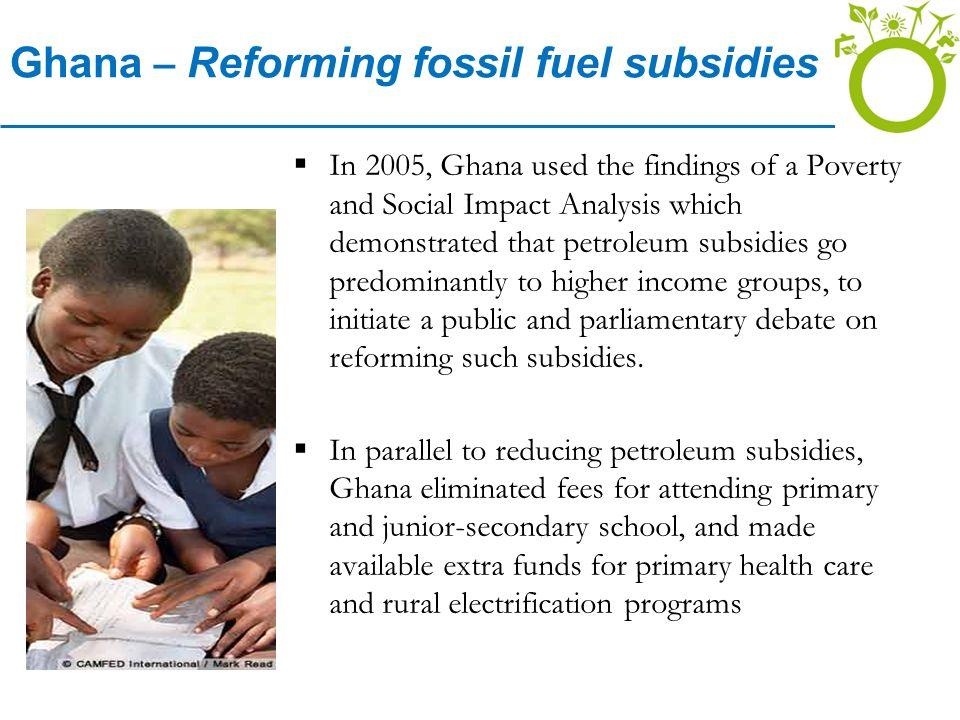 Ghana – Reforming fossil fuel subsidies
