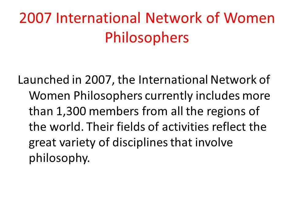 2007 International Network of Women Philosophers