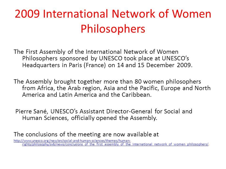 2009 International Network of Women Philosophers