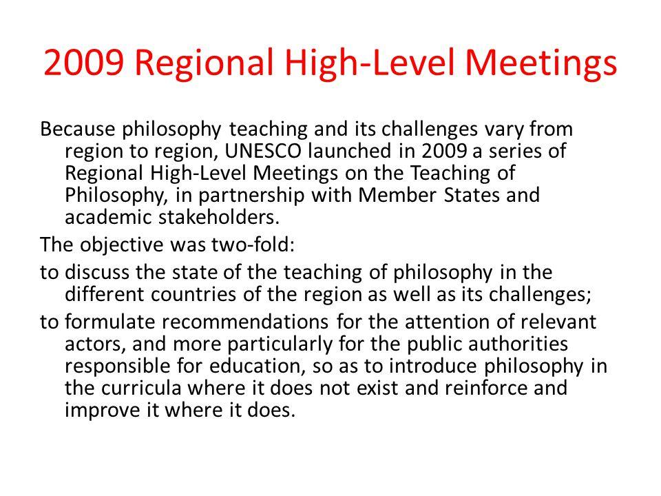 2009 Regional High-Level Meetings