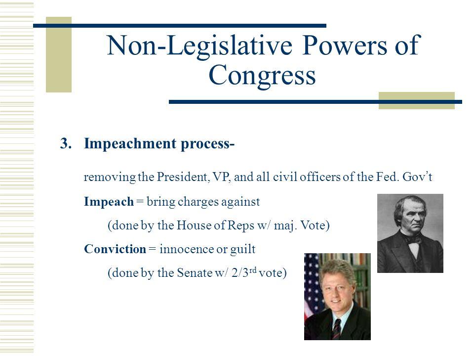 Non-Legislative Powers of Congress