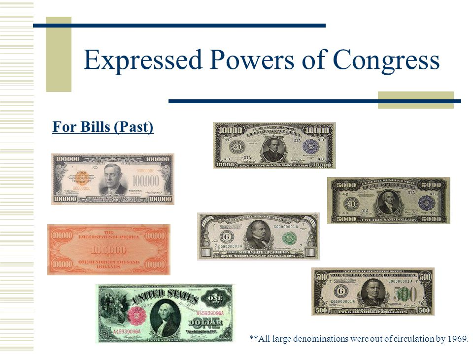 Expressed Powers of Congress