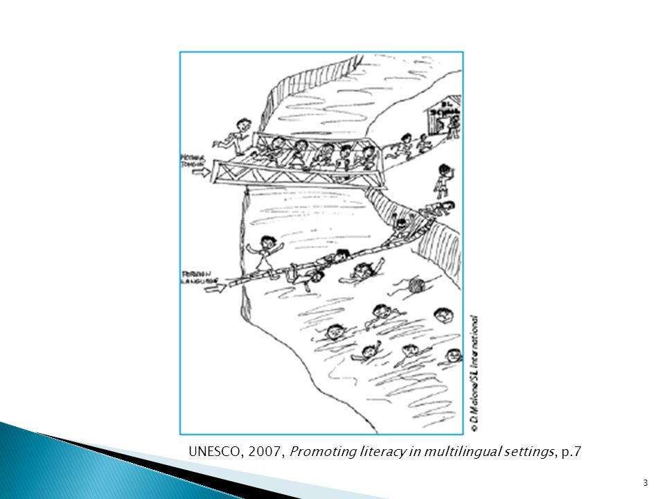 UNESCO, 2007, Promoting literacy in multilingual settings, p.7