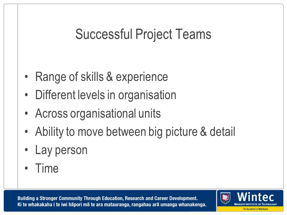Successful Project Teams