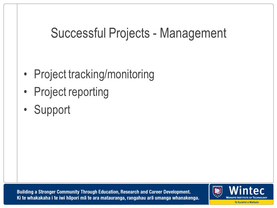 Successful Projects - Management