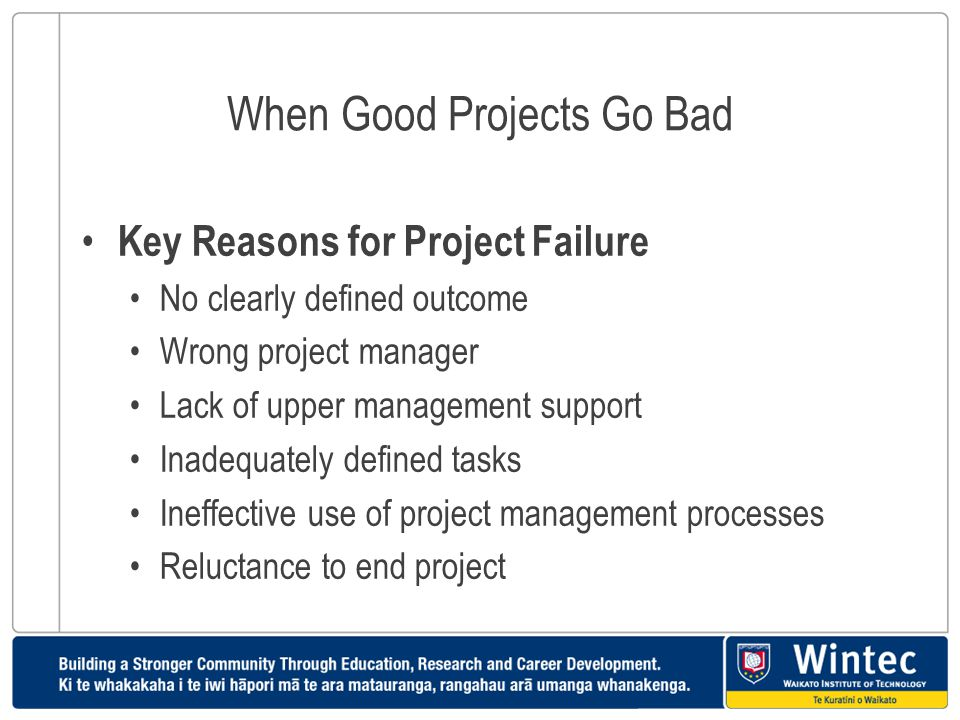When Good Projects Go Bad