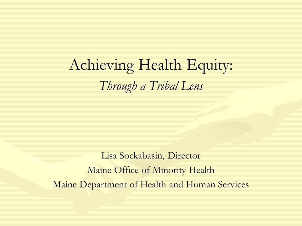 Achieving Health Equity: