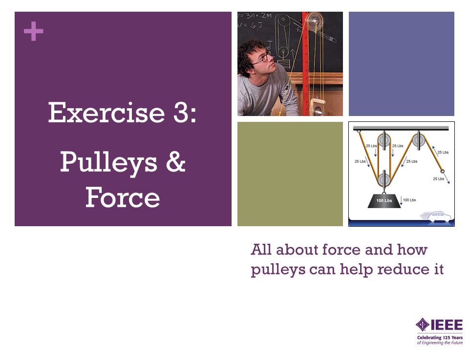 All about force and how pulleys can help reduce it