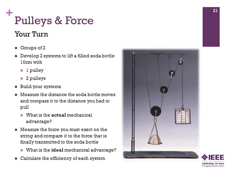 Pulleys & Force Your Turn Groups of 2