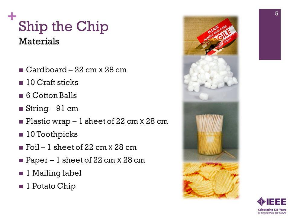 Ship the Chip Materials Cardboard – 22 cm x 28 cm 10 Craft sticks