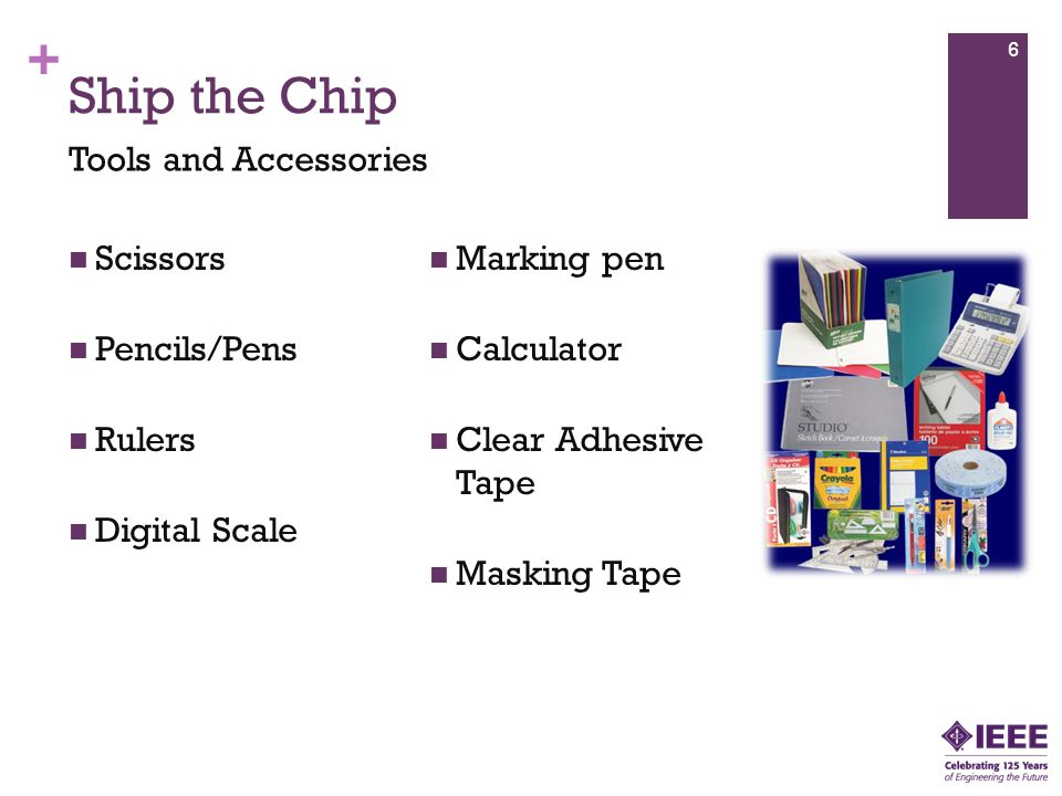 Ship the Chip Tools and Accessories Scissors Marking pen Pencils/Pens