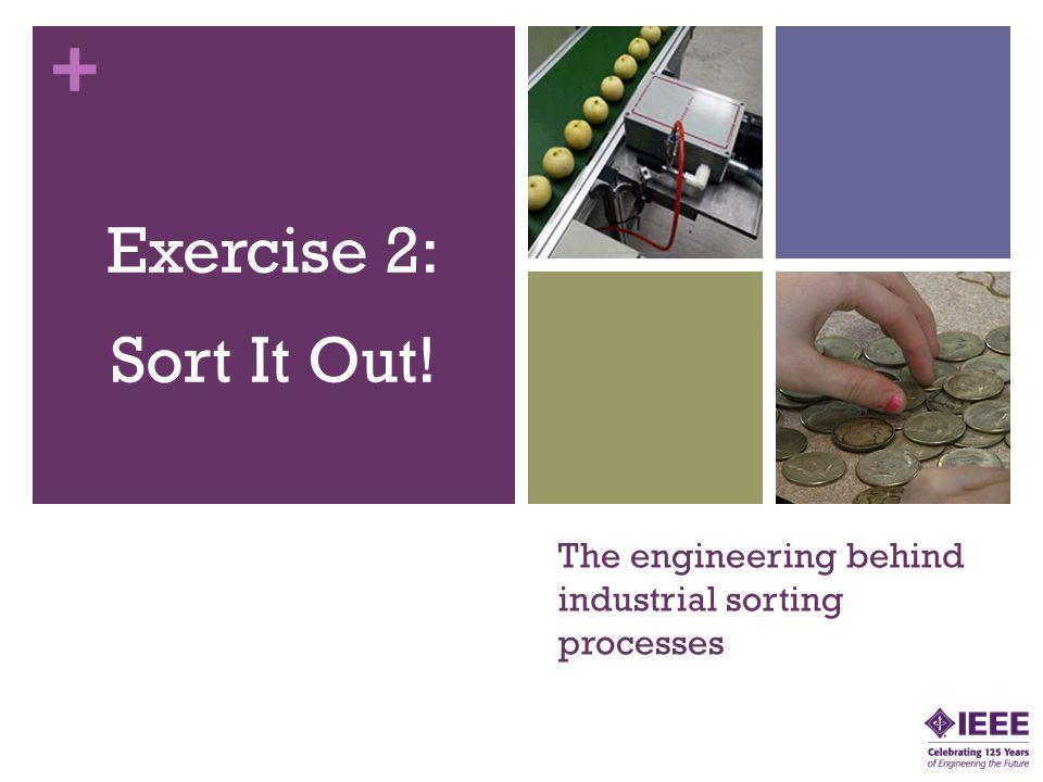 The engineering behind industrial sorting processes
