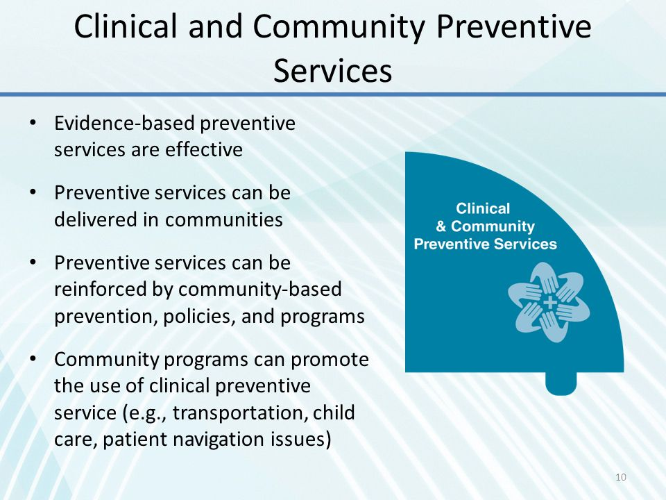 Clinical and Community Preventive Services