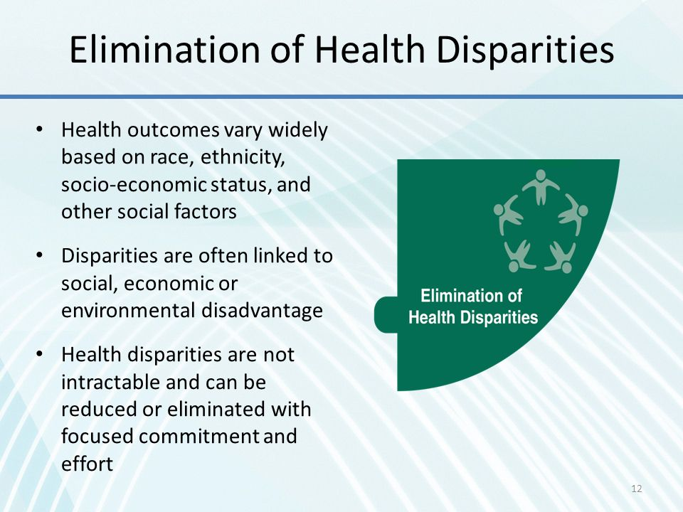 Elimination of Health Disparities