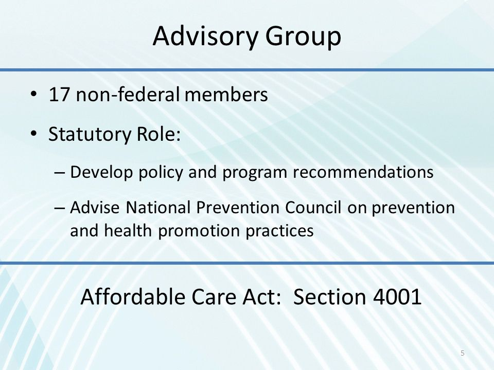 Affordable Care Act: Section 4001