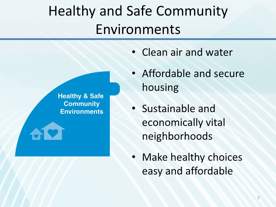 Healthy and Safe Community Environments