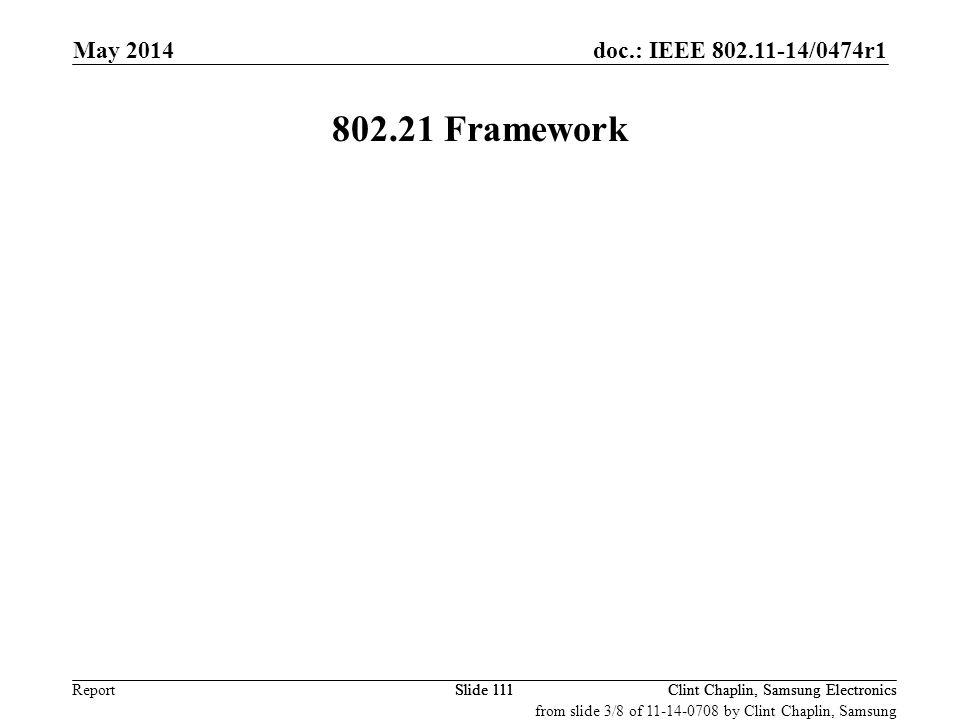802.21 Framework May 2014 September 2008 May 2008 July 2013