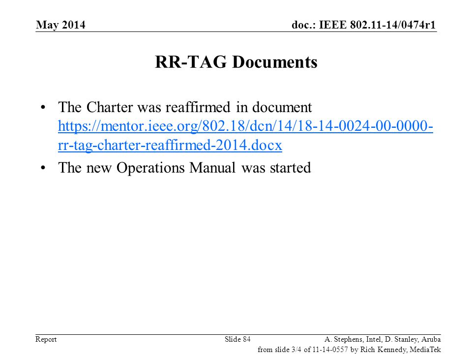 May 2006 doc.: IEEE 802.11-06/0528r0. May 2014. RR-TAG Documents.