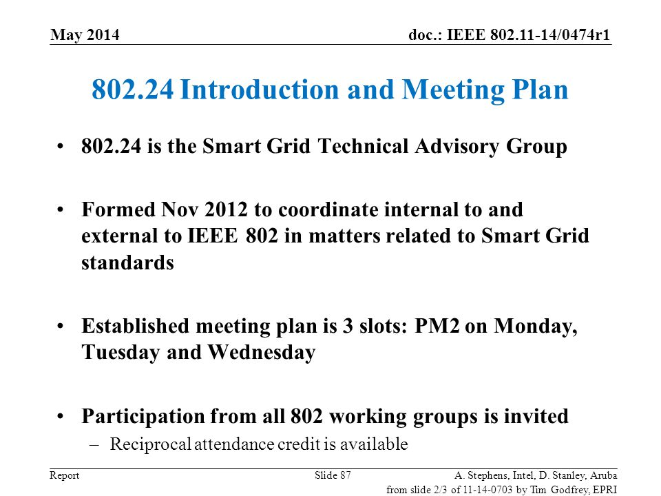 802.24 Introduction and Meeting Plan