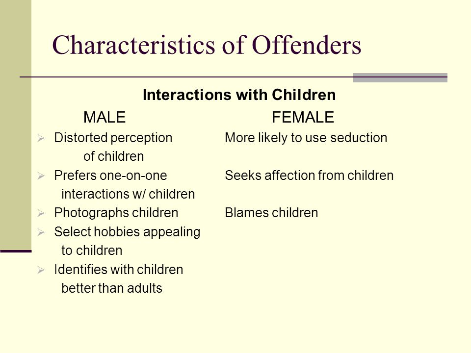 Characteristics of Offenders