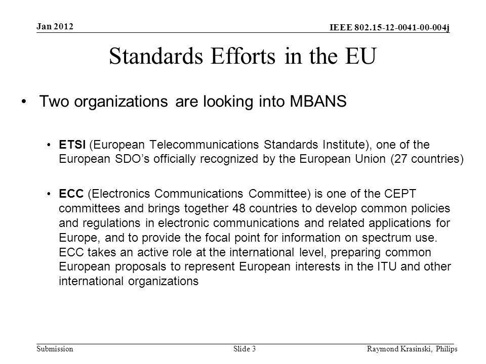Standards Efforts in the EU