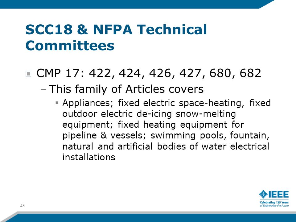 SCC18 & NFPA Technical Committees