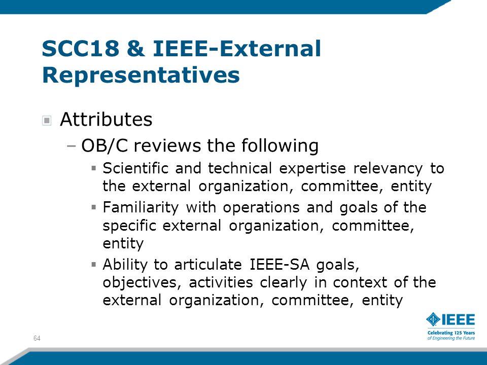 SCC18 & IEEE-External Representatives