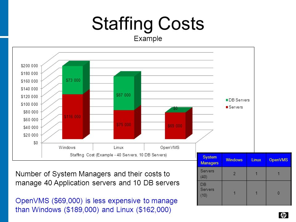 Staffing Costs Example