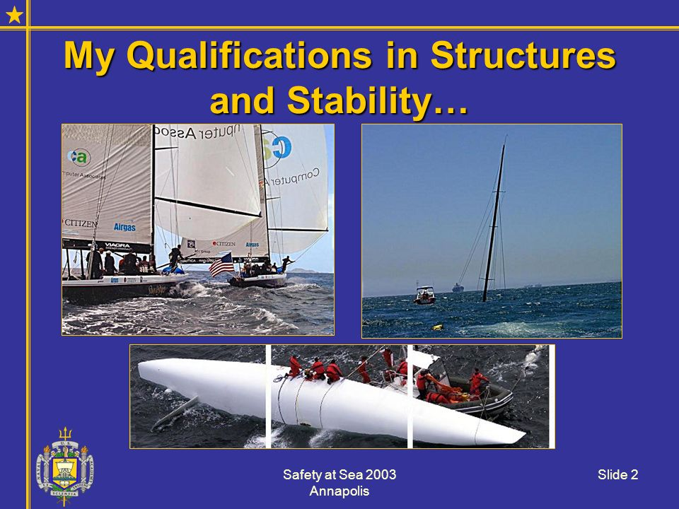 My Qualifications in Structures and Stability…