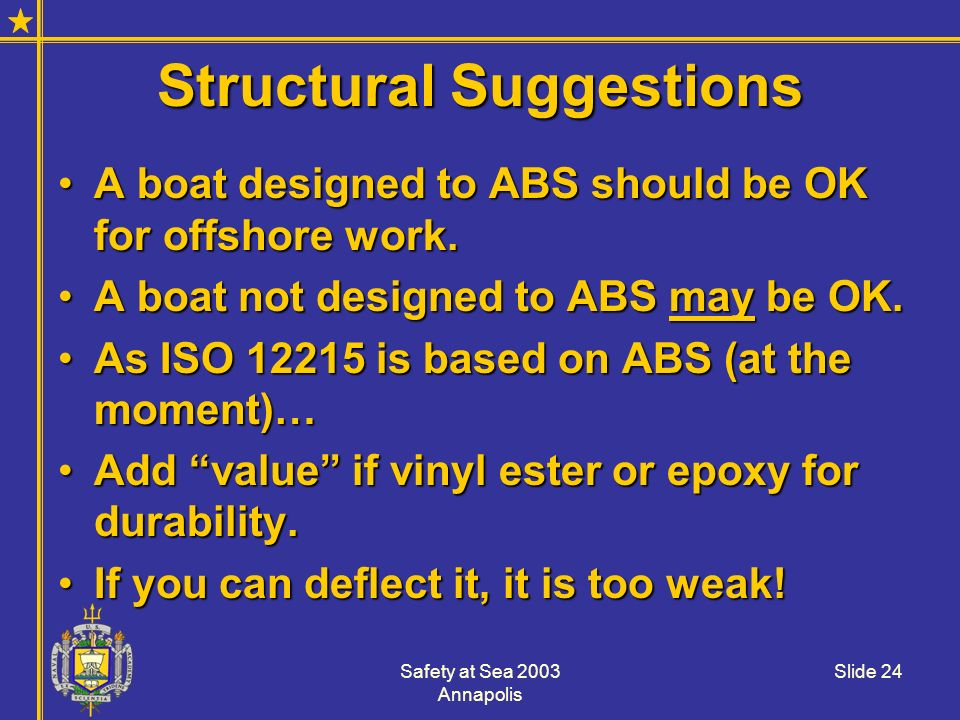 Structural Suggestions