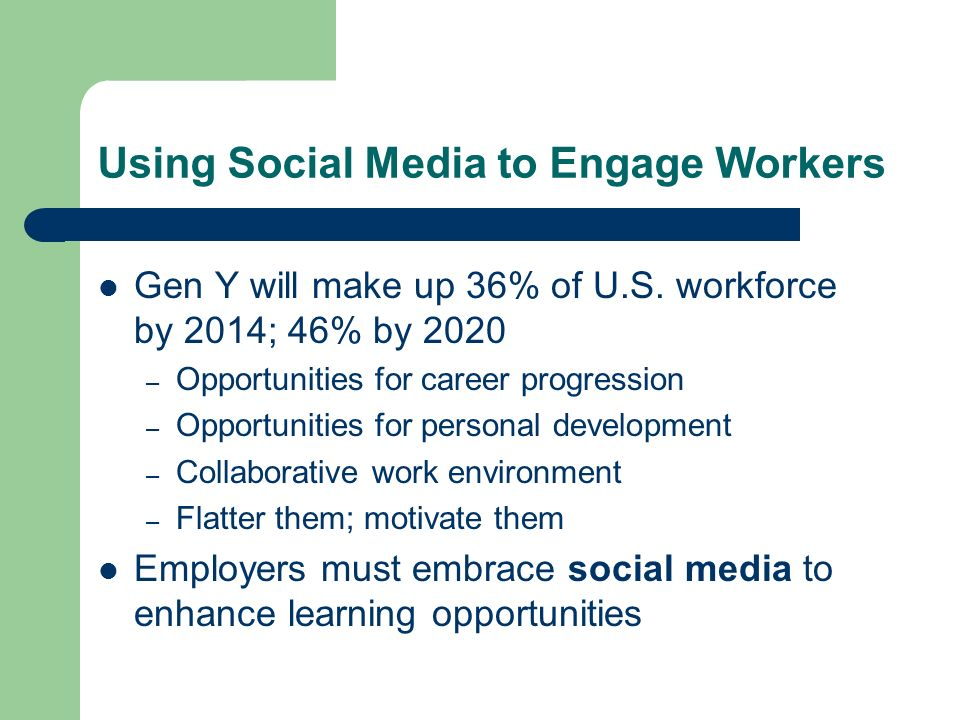 Using Social Media to Engage Workers