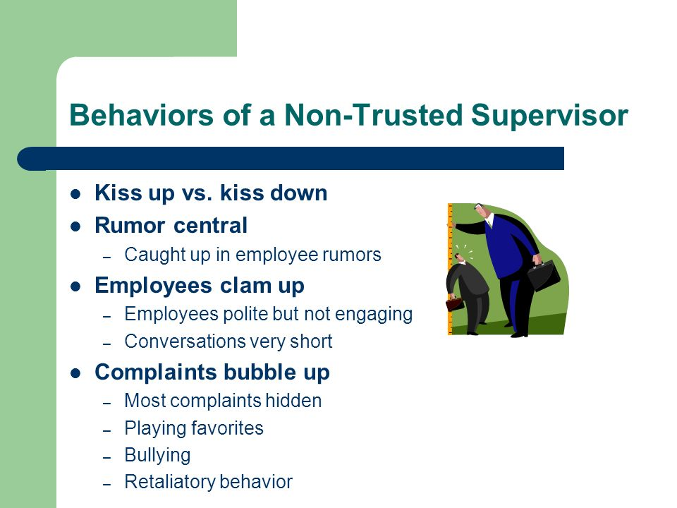 Behaviors of a Non-Trusted Supervisor