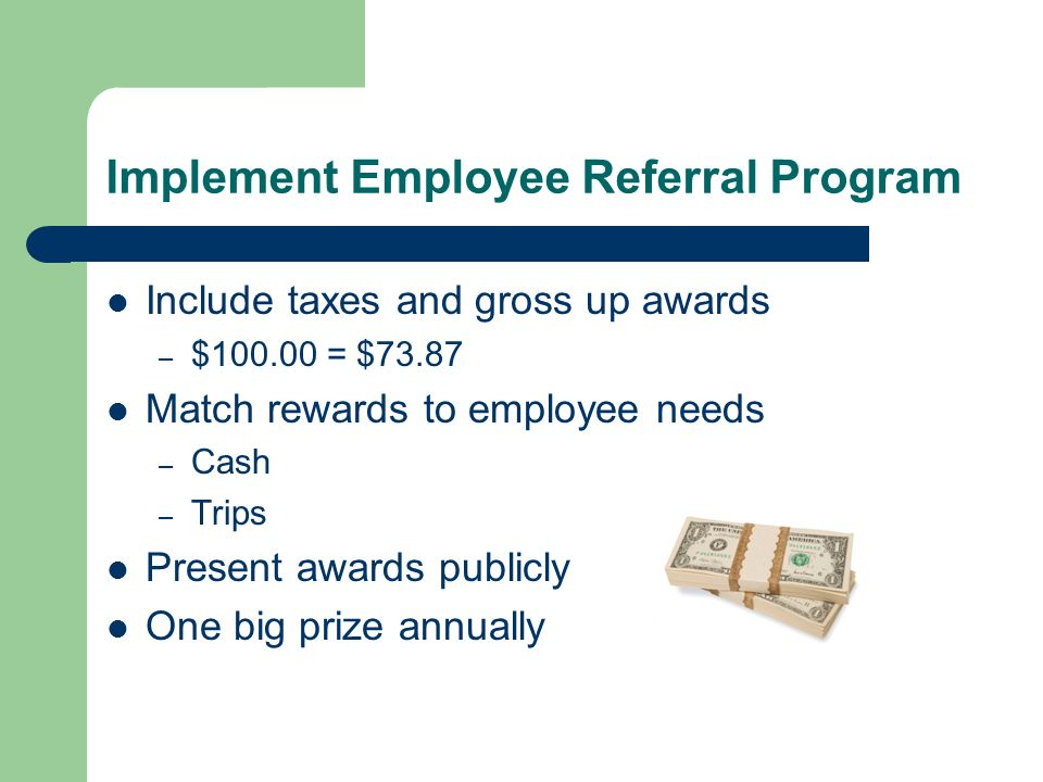 Implement Employee Referral Program