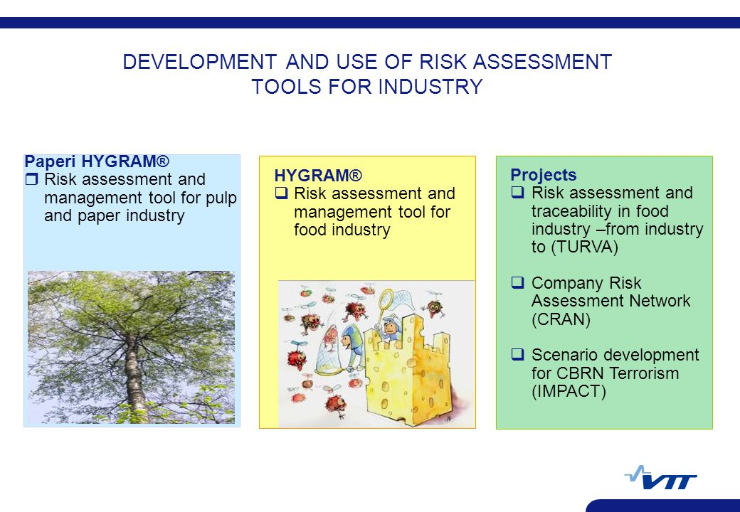 DEVELOPMENT AND USE OF RISK ASSESSMENT TOOLS FOR INDUSTRY