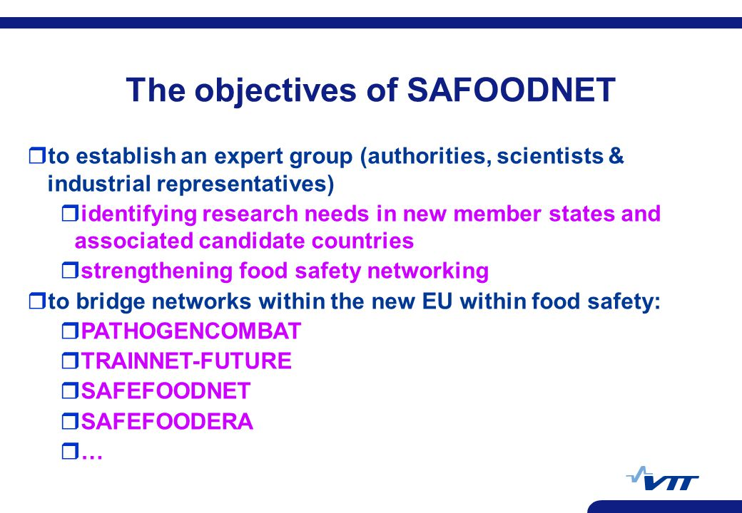 The objectives of SAFOODNET